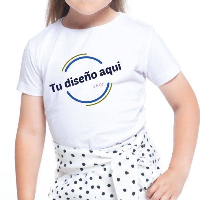 Camiseta niña infantil algodón personalizada